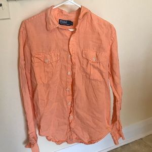 Polo Ralph Lauren Small Button Down Orange AA38